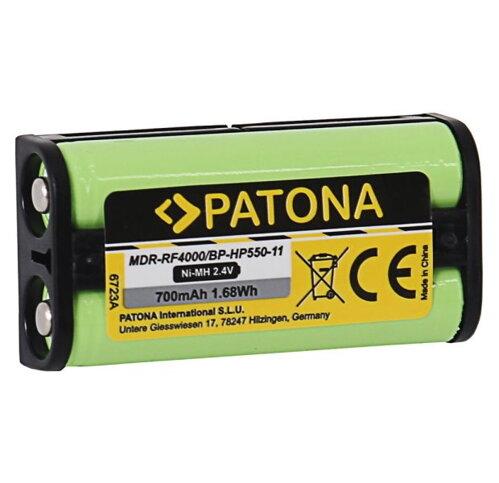 PATONA baterie pro sluchátka Sony BP-HP550-11 700mAh Ni-Mh 2,4V MDR-RF4000